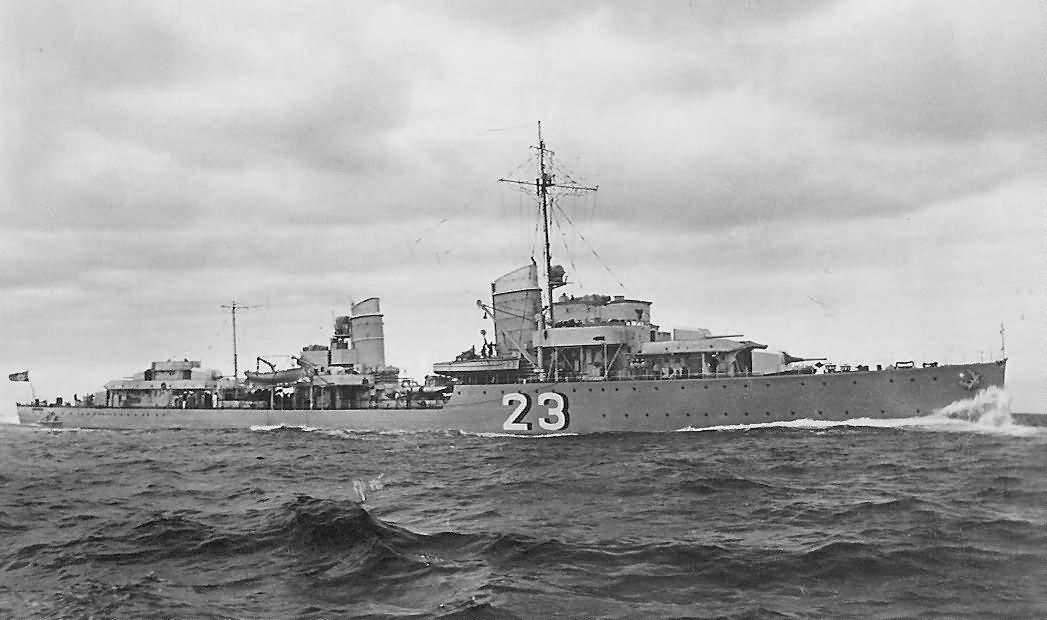 Kriegsmarine Type 34a destroyer Z7 Hermann Schoemann