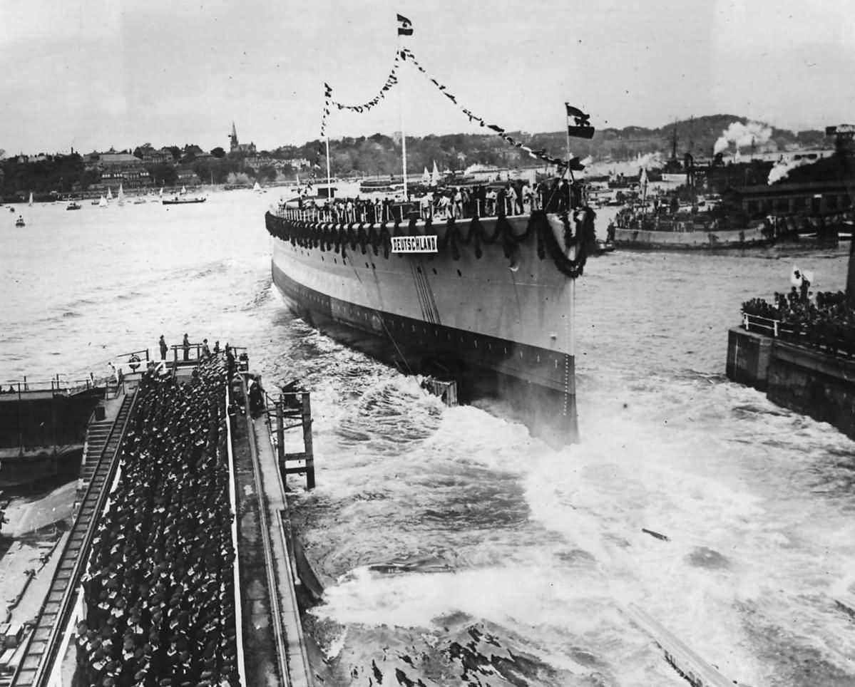 Launch of German Pocket Battleship Deutschland at Kiel – 19 May 1931