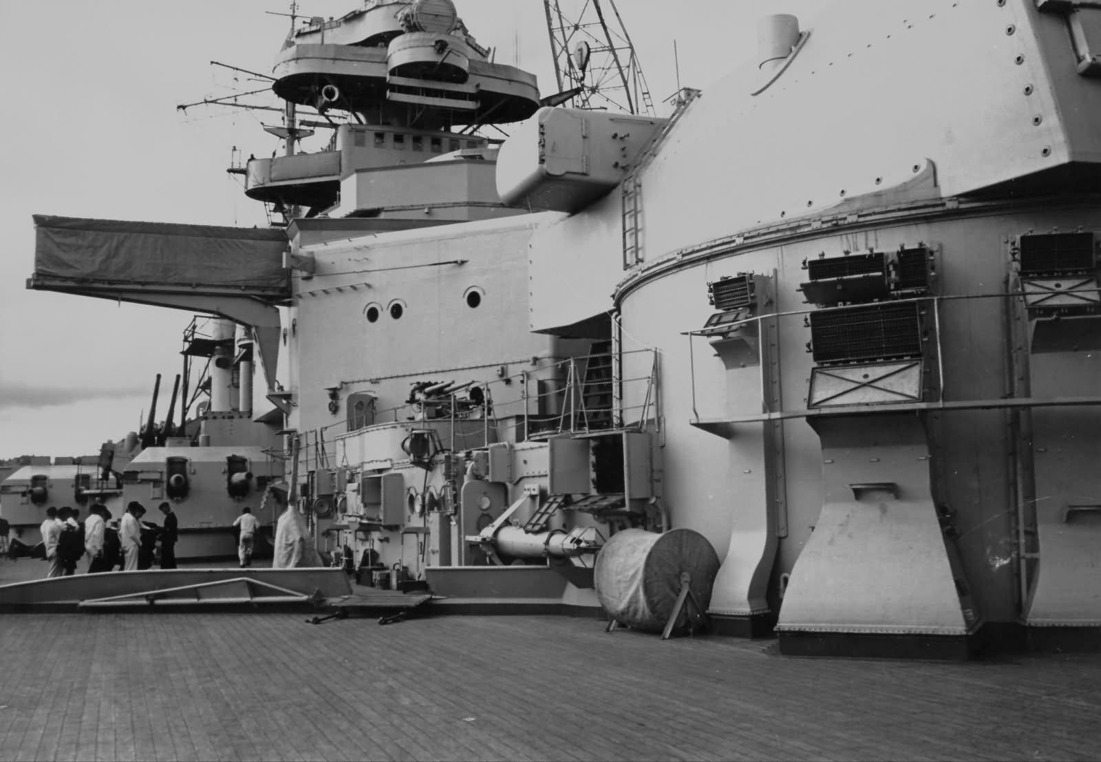 Bismarck deck and superstructure