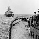 Bismarck seen from the heavy cruiser Prinz Eugen