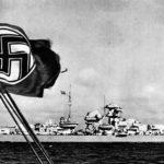 Broadside view of Battleship Bismarck 1941