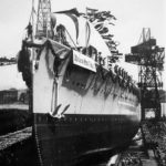 Graf Spee in shipyard