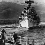 Admiral Hipper in Norway, bow view