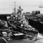 German heavy cruiser Admiral Hipper in drydock