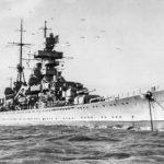 Kriegsmarine cruiser Prinz Eugen 1945