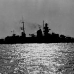 Kriegsmarine cruiser Prinz Eugen off Massachusetts 1946