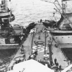 Prinz Eugen rammed the light cruiser Leipzig 1944