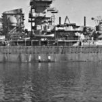 Heavy cruiser Prinz Eugen during fitting out 1939