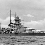 Battleship Scharnhorst broadside view