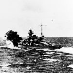 Scharnhorst firing during the engagement with the carrier HMS Glorious – 8 June 1940