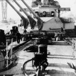 Scharnhorst foredeck and turrets