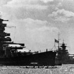 Battleships Scharnhorst (left) and Gneisenau