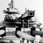 Scharnhorst turret and its aircraft catapult