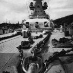 Bow view of German pocket battleship Admiral Scheer