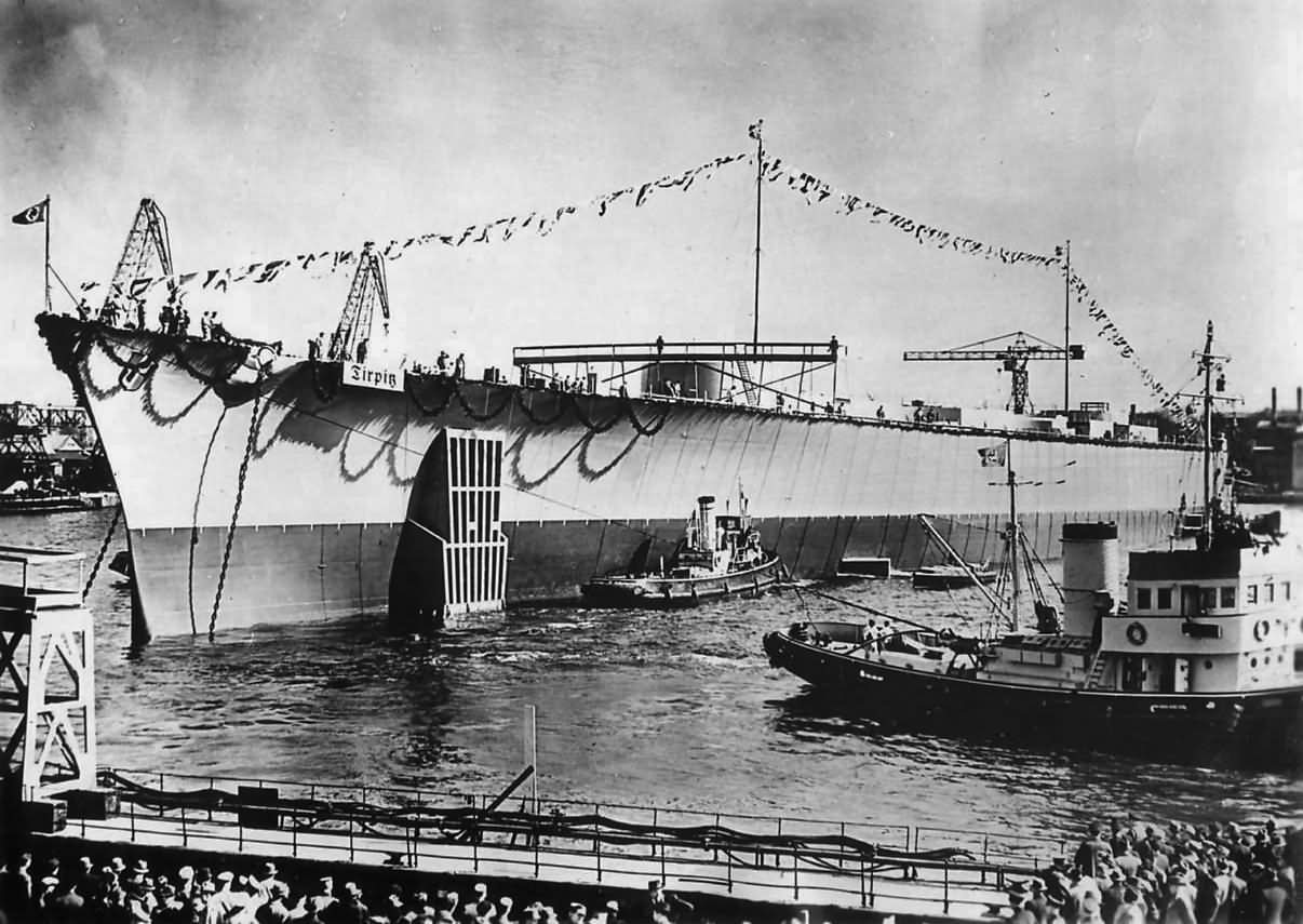 Image result for tirpitz launch