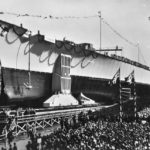 Launch of German Battleship Tirpitz