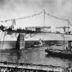 Launch of German Battleship Tirpitz April 1939