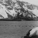 Starboard view of the battleship Tirpitz in Norway 1942