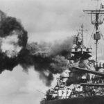 Battleship Tirpitz during firing practice 2