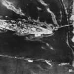 Tirpitz in Kafjord Altafjord photographed by a Mosquito July 12th 1944