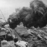 battleship Tirpitz firing