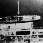 RAF reconnaissance photo showing Graf Zeppelin at Gotenhafen – 6 February 1942