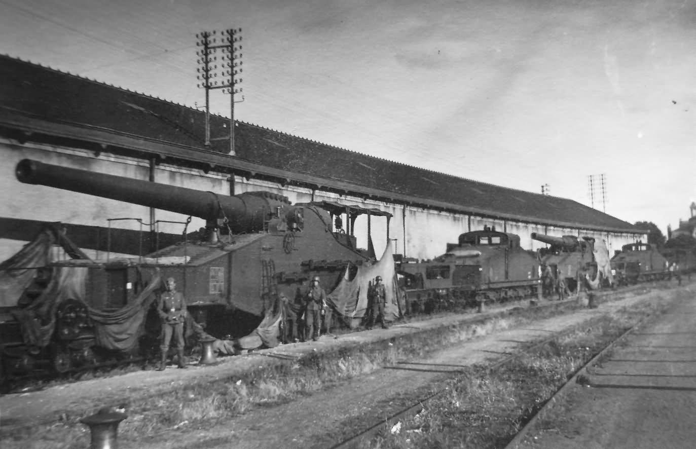 274 mm Mle 1917 Railway guns France