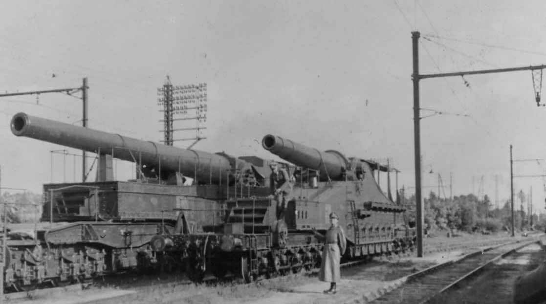 French railway guns 340mm Mle 1912 Schneider and 320mm Mle 1870 1940