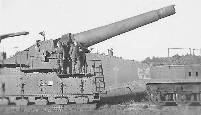 Wehrmacht Troops with Captured French 320 mm Railway Artillery