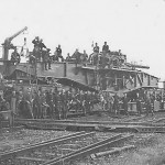 "24 cm Kanone (E) L/35 ""Theodor Bruno"" german railway gun and crew June 1940"