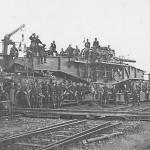 "24 cm Kanone (E) L/35 ""Theodor Bruno"" german railway gun and crew June 1940"