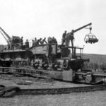20 cm Kanone (E) from 685 Eisenbahn-Artillerie-Batterie on the Vögele turntable, France 1941