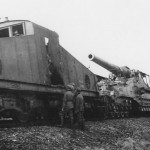 274 mm Mle 1917 railway gun and locomotive