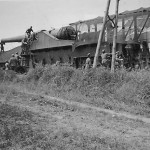 Captured french railway gun
