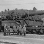 Eisenbahngeschutz 28 cm Schwere Bruno railway gun France