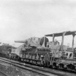 German 27,4 cm Railroad Gun Artillery France