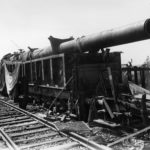 "38cm K(E) Siegfried railway gun named ""Gneisenau"" of Eisenbahn-Batterie 698"
