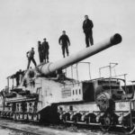 US 7th Army Troops with captured 274 mm 592(f) rail gun