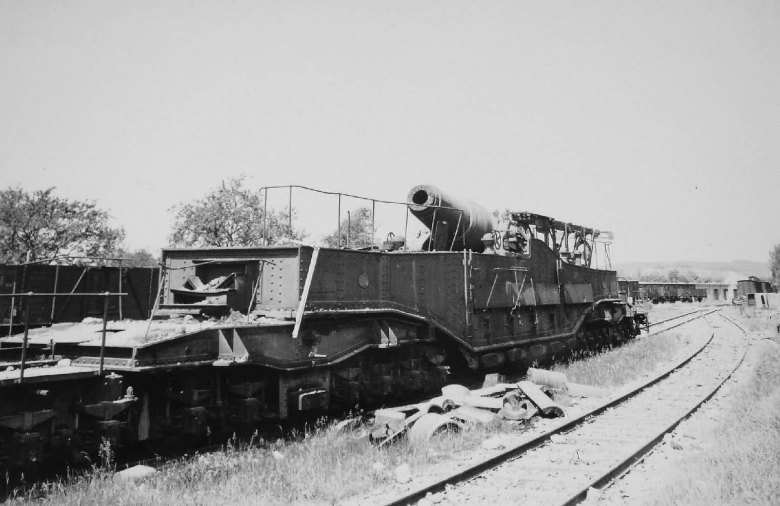 ex French 37 cm K(E) 714(f) 370 mm Modele 1875-79 German Railroad Gun