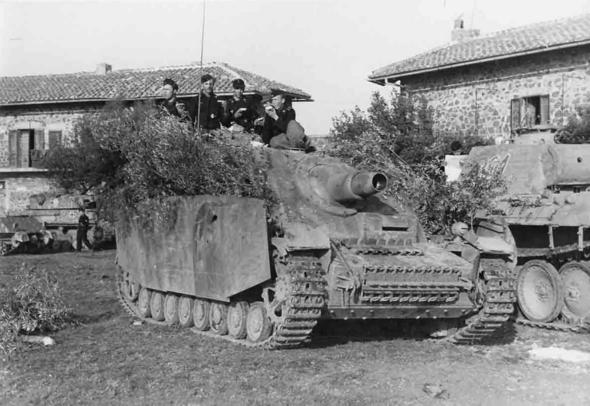 Panther and Brummbar of the Sturmpanzer-Abteilung 216, Italy 1944