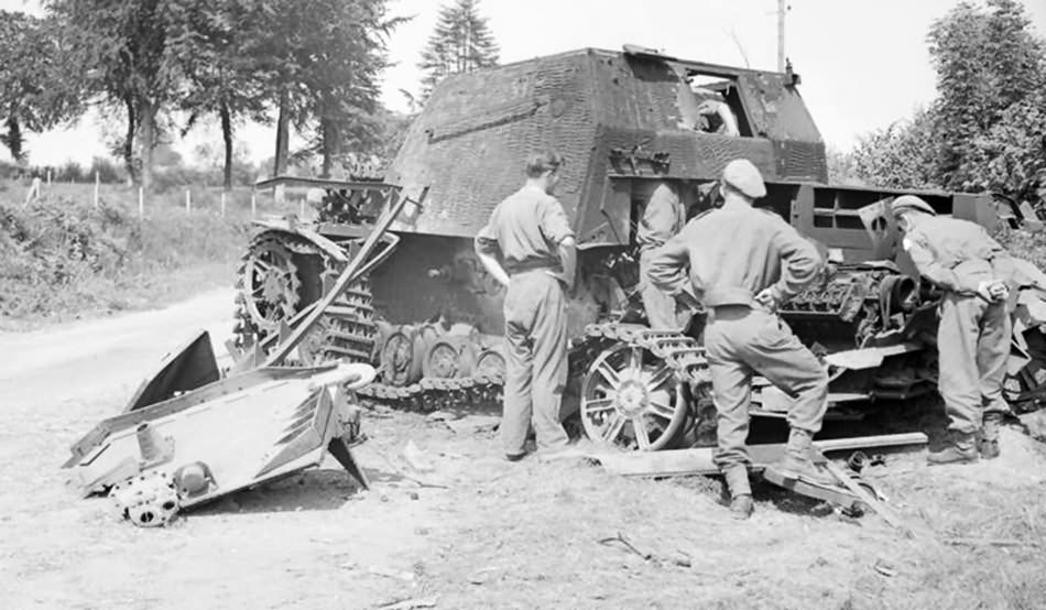 Destroyed Brummbar near Ondefontaine, Normandy, 6 August 1944