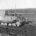 German Ferdinand tank destroyer stuck in mud