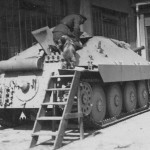 Hetzer tank destroyer rear view