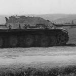 Abandoned Jagdpanzer V Jagdpanther with zimmerit 1945
