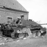 Burned out Jagdpanther of the schwere Panzerjäger-Abteilung 559 near Gheel 13 September 1944