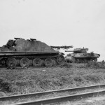 Jagdpanther number 123 and M36 Jackson Hamig Germany 1945