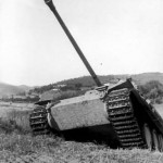 Jagdpanther with zimmerit during field exercises