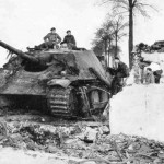 Captured by British forces german tank destroyer Jagdpanther