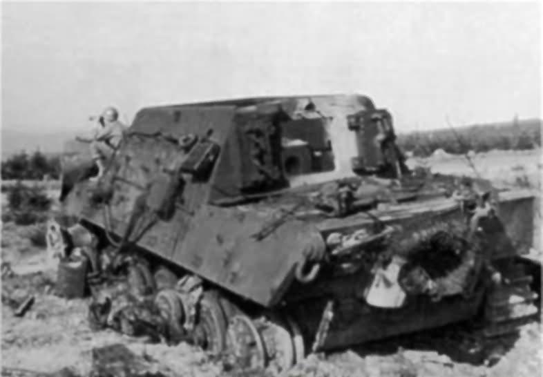 Jagdtiger of the Schwere Panzerjäger-Abteilung 512 rear view
