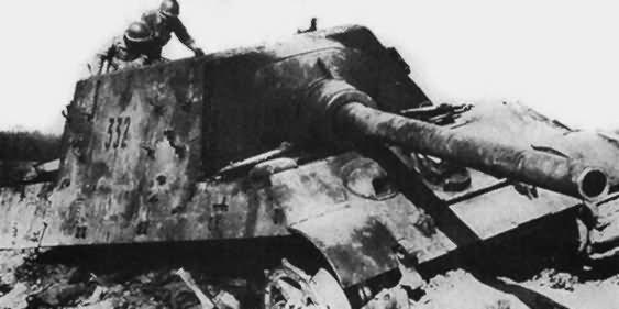 12,8 cm Panzerjäger Tiger Ausf. B Jagdtiger tactical number 332